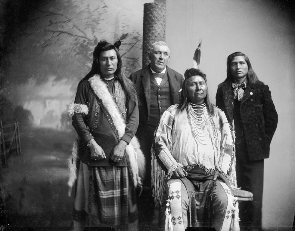 Four Nez Perce Men Ahlakat Ben Beveridge Nonnative Chief