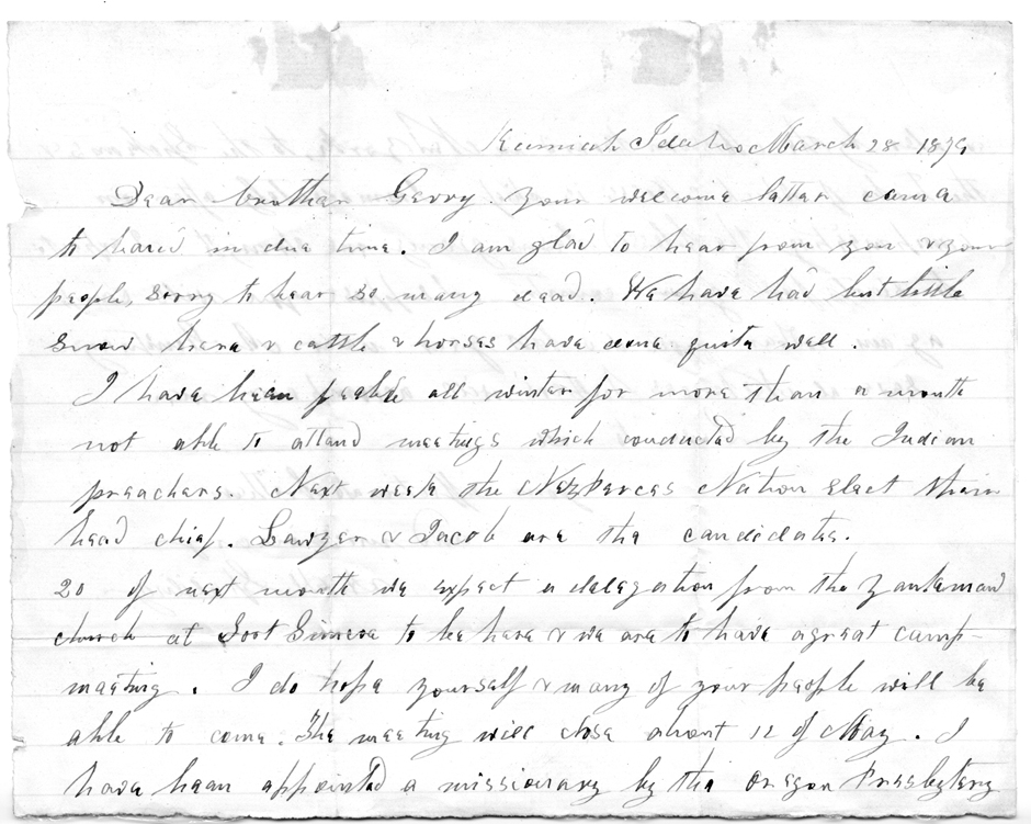 letter of representation letter from spalding to chief garry spokane 1874 page 2 23065 | 5WSUMASC0042 2
