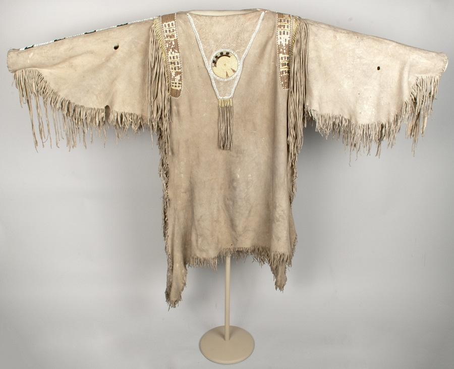 Man's Hide Shirt, Reverse Side, Nez Perce